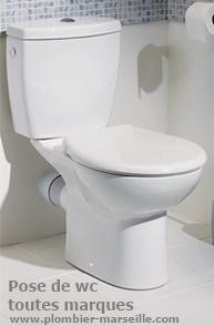 Pose ou changement de wc à Marseille, remplacement de votre toilette dans la journée.
